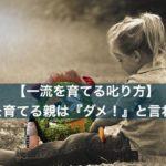 Story 『x』&5 一流を育てる親は『ダメ!』と言わない 【一流を育てる叱り方】