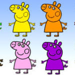 Peppa Pigで遊びながらお勉強♪『Colours:色』 子どもが喜ぶ英語のColours(色)ゲーム♪