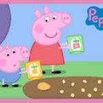 『Peppa and George`s garden:ペッパとジョージの庭』Peppa Pigより 日本語訳あり